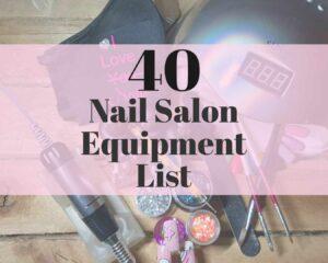nail salon equipment list