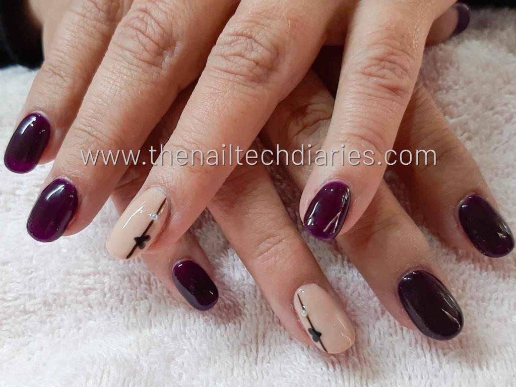 14. Simple nail art