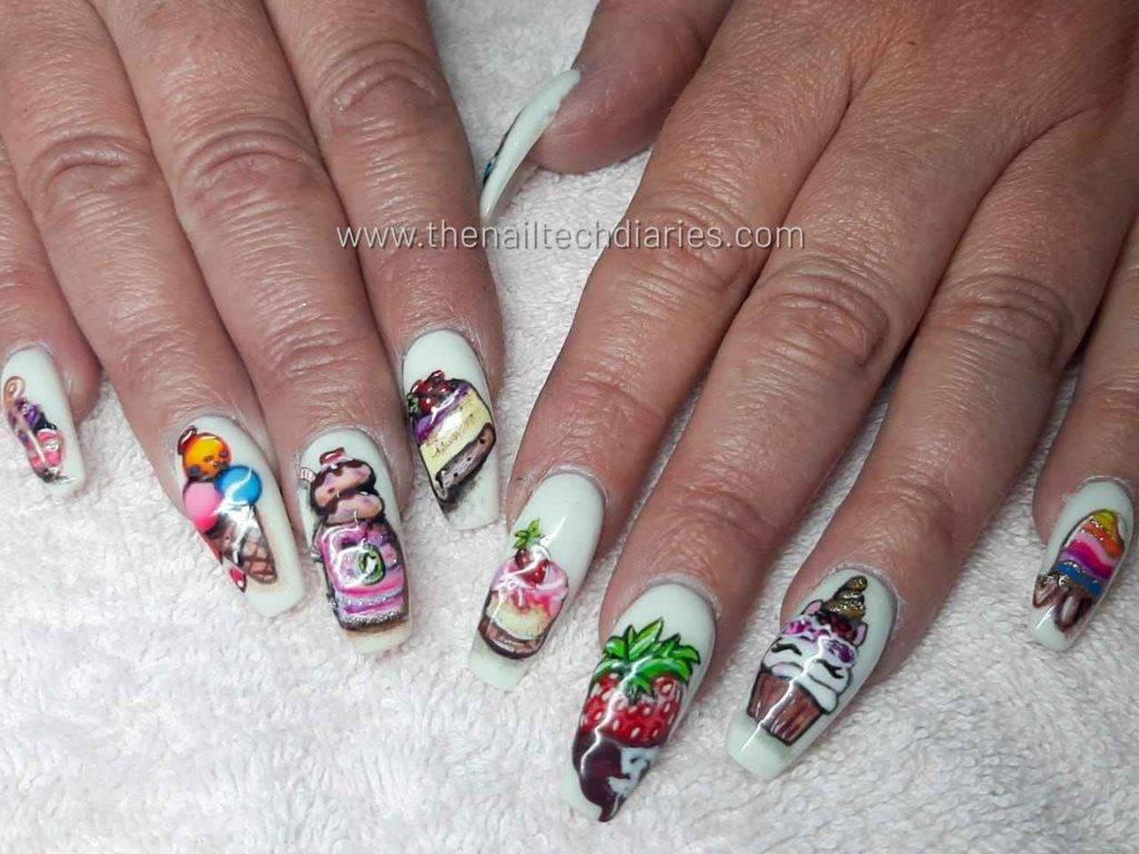 5. Sweet treats nail art