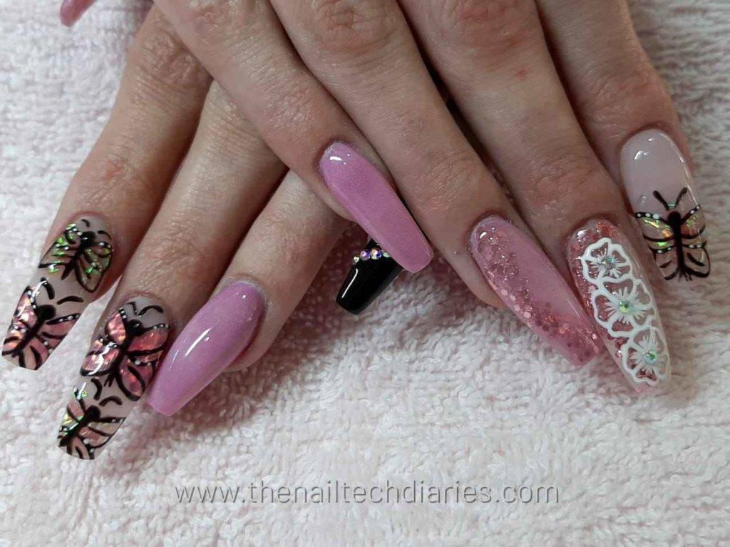 6. Butterflies nail art