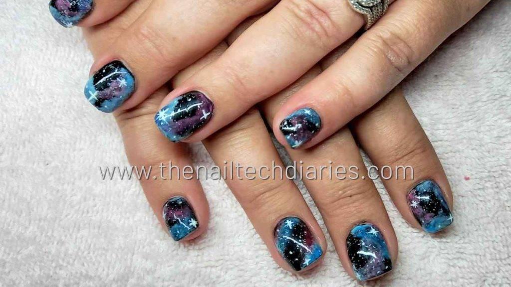 22. Galaxy nail art