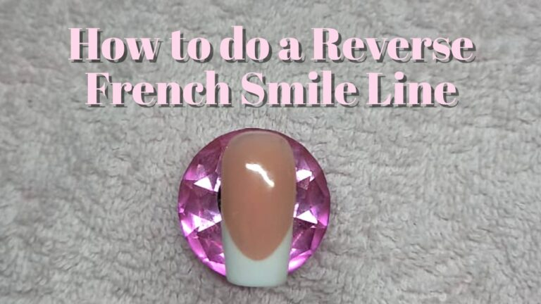 How to do a reverse french smile line