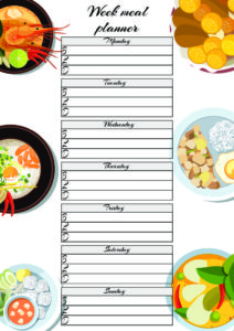 weekly free meal planner printable