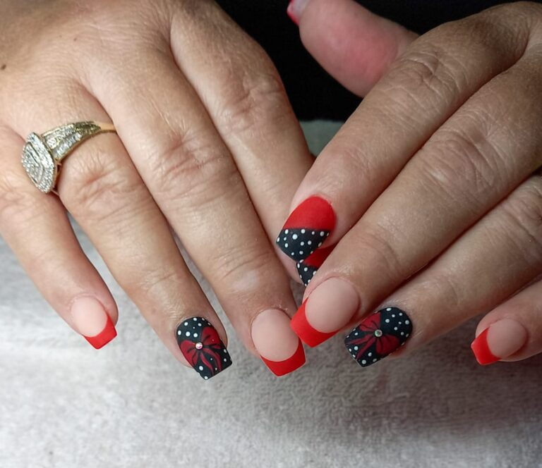 acrylic nails with tips