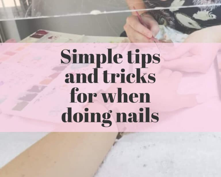 simple tips and tricks for doing nails